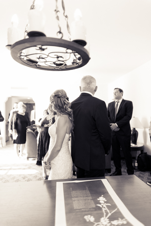 ketubah signing at ojai valley inn wedding