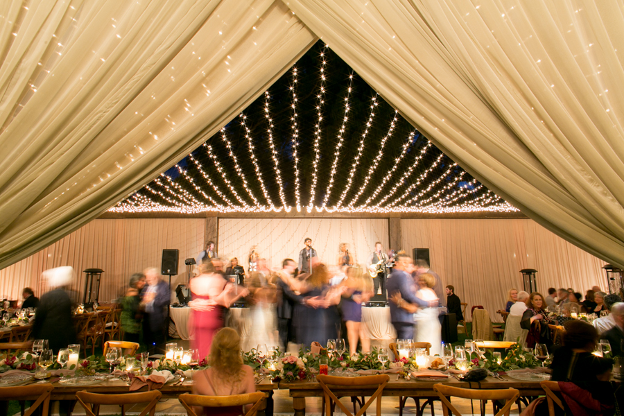 orchard lawn wedding reception at ojai valley inn