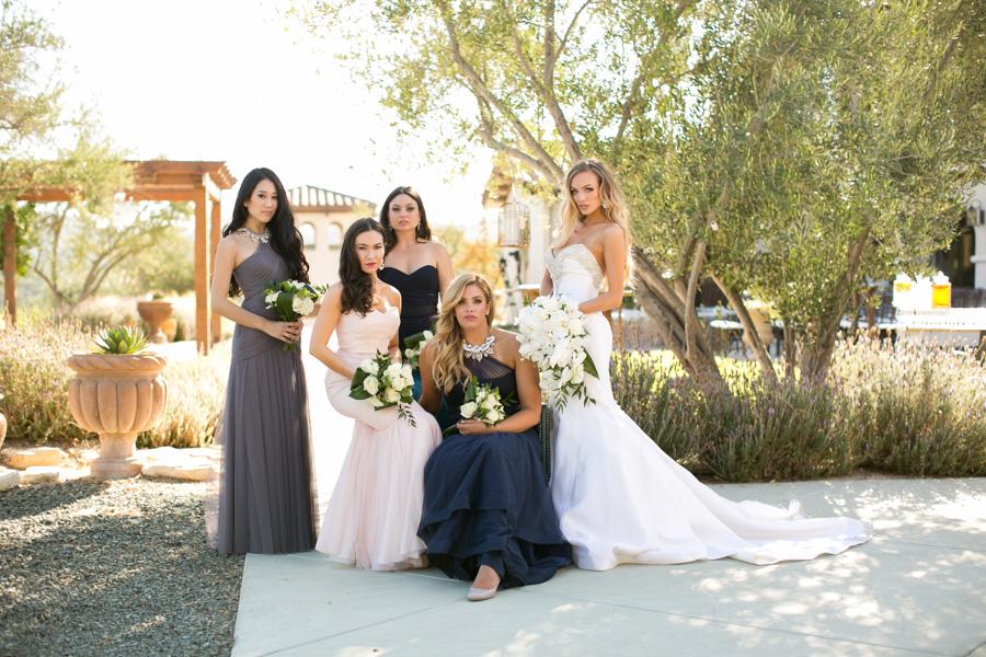 bridesmaids at croad winery paso robles
