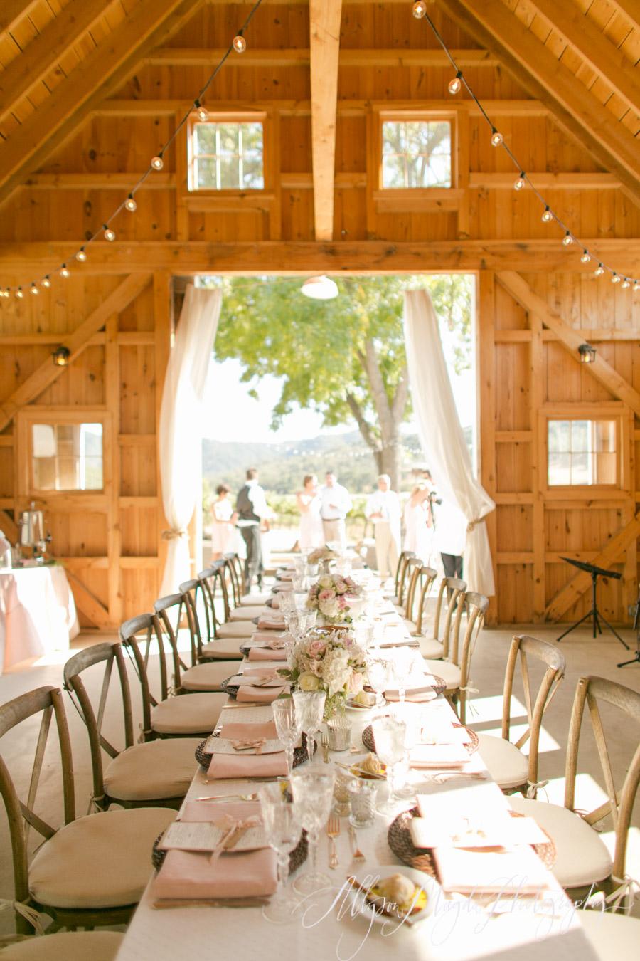 Hammersky Vineyards Wedding Reception Dinner Paso Robles Ca