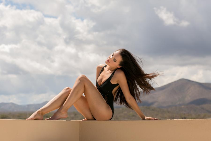 swimsuit model, fashion shoot