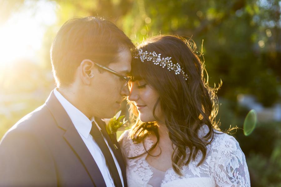 couple at roblar winery wedding santa ynez